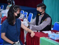 Polda Lampung Kembali Gelar Vaksinasi Gratis Untuk Masyarakat di Pasca Sarjana UBL