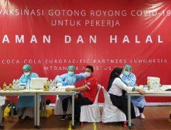Coca-Cola Europacific Partners Indonesia Menjalankan Program Vaksinasi Gotong Royong di Medan