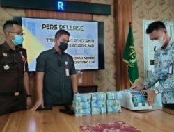 Kejari PALI Terima Titipan Rp500 Juta Terkait Kasus Normalisasi Sungai Abab 2018