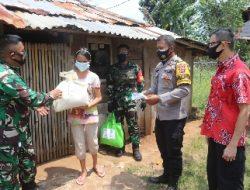 Kodim 0410/KBL Bersama PSMTI Lampung Bagikan Sembako dan Masker Gratis Kepada Masyarakat