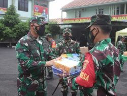 Komandan Kodim 0410/KBL Pimpin Acara Penyerahan Bantuan Paket Isoman Secara Simbolis