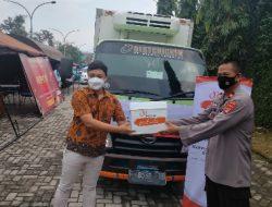 Dapur Umum Gerdu Limas Polda Lampung Terima Bantuan Dari PT. Ciomas Adisatwa RPA Unit Lampung