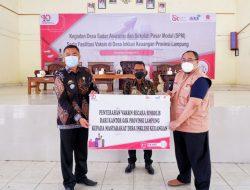 OJK Lampung Gelar Vaksinasi Covid-19 dan Sekolah Pasar Modal serta Edukasi Desa Sadar Asuransi di Desa Inklusi Keuangan Kabupaten Lampung Selatan