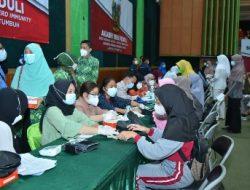 Hadiri Vaksinasi Massal Akabri 1999, Kapolda Lampung : Insya Allah November Lampung sudah Herd Imunity