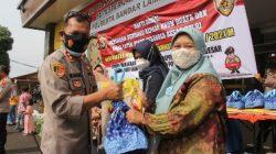 Polresta Bandarlampung Salurkan 286 Paket Sembako Untuk Kaum Duafa,Yatim Piatu Dan Warakauri Polri