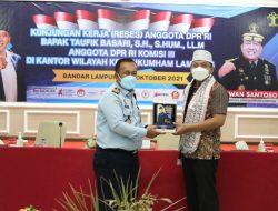 Reses ke Kanwil Lampung, Taufik Basari Bahas Overcrowding Lapas Hingga Layanan OBH
