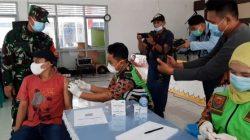Ratusan WBP Lapas Kelas I Bandarlampung Divaksin Covid Kerjasama Dengan Kodim 0410/KBL